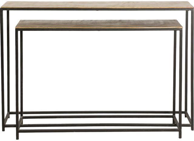 Table gigogne rectangulaire Ledford, noir, Renwil®-TA301