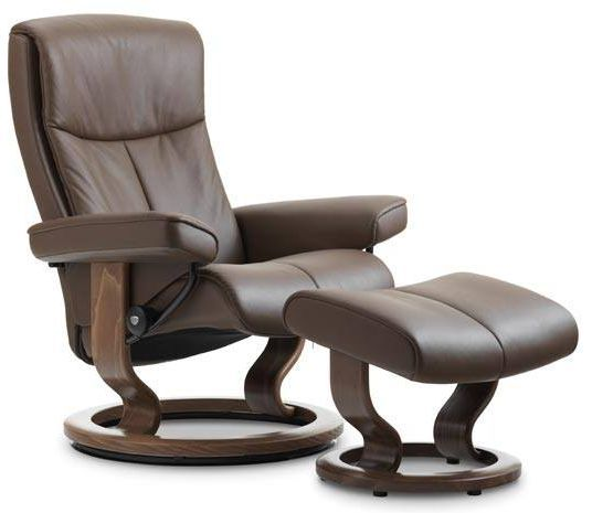 Stressless® by Ekornes® Peace Small Classic Base Chair and Ottoman-1315015