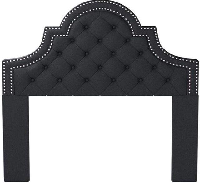 Coaster® Ojai Charcoal Queen Upholstered Headboard-300443QF