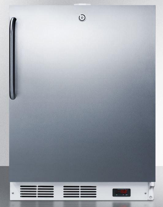 Summit® 3.1 Cu. Ft. Upright Freezer-Stainless Steel-ACF48WCSSADA