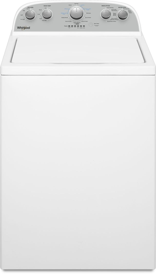 Whirlpool® 3.8 Cu. Ft. White Top Load Washer-WTW4955HW