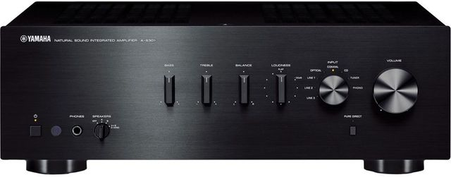 Yamaha® 2-Channel Integrated Amplifier-A-S301BL