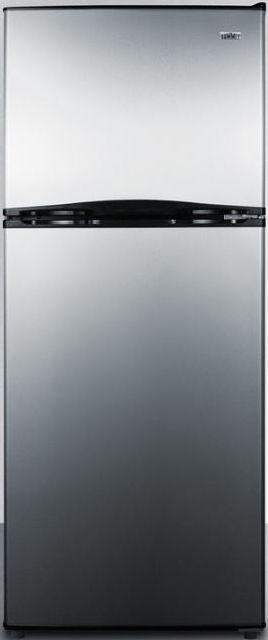 Summit® 9.9 Cu. Ft. Top Freezer Refrigerator-Stainless Steel-FF1073SS