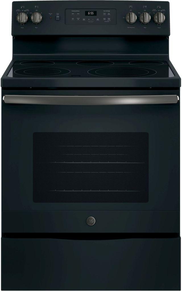 "GE® 30"" Free Standing Electric Range-Black Slate-JB655FKDS"