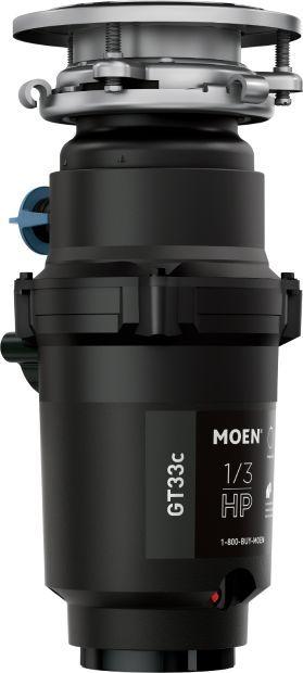Moen® GT Series 0.33 HP Continuous Feed Black Garbage Disposal-GT33C