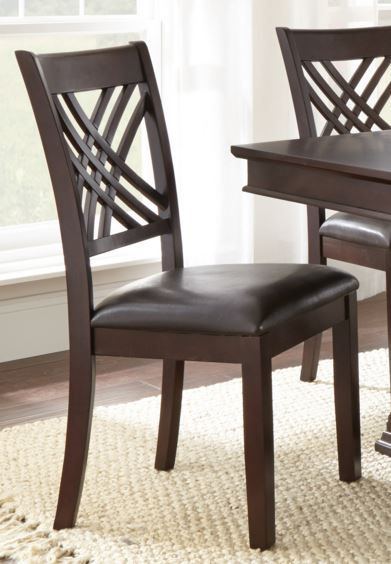 Steve Silver Co. Adrian Side Chair-Merlot Cherry-AD600S