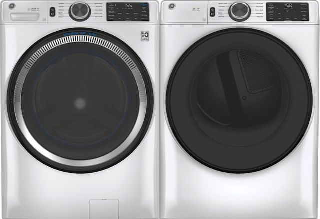 GE® White Front Load Laundry Pair-GELAUGFD55ESSNWW