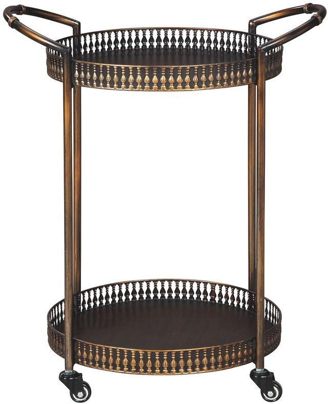 Signature Design by Ashley® Clarkburn Antique Bronze Bar Cart-A4000100