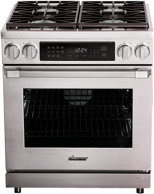 """Dacor® Professional 36"""" Dual Fuel Pro Range-Stainless Steel-HDPR36S/LP"""