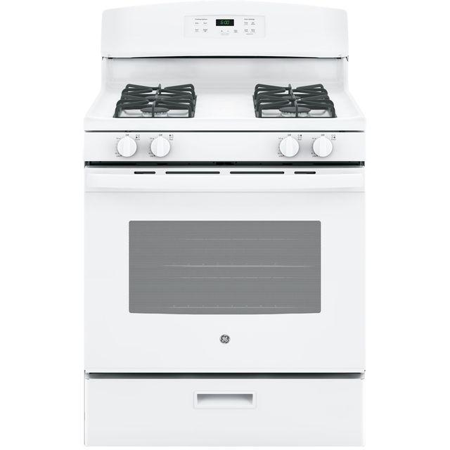 Cuisinière au gaz autoportante GE® de 5,0 pi³ de 30 po - Blanc-JCGBS60DEKWW