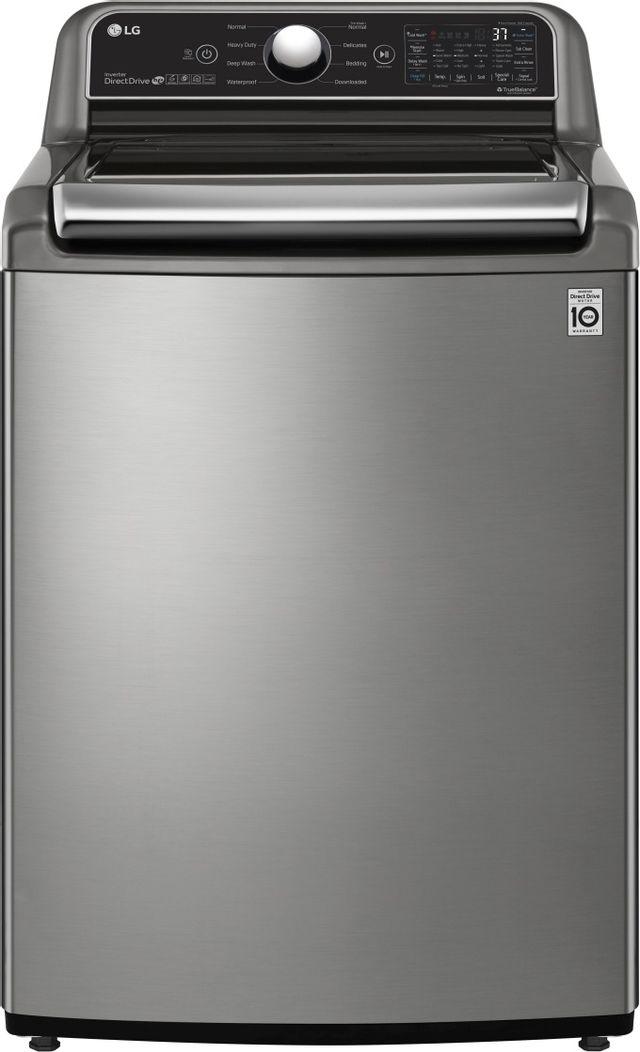 LG 4.8 cu. ft. Graphite Steel Top Load Washer-WT7305CV
