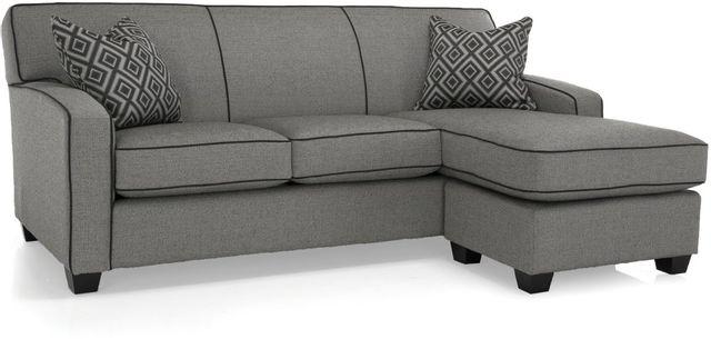 Canapé avec chaise longue en tissu Decor-Rest®-2401-SOFA WITH CHAISE GRAY