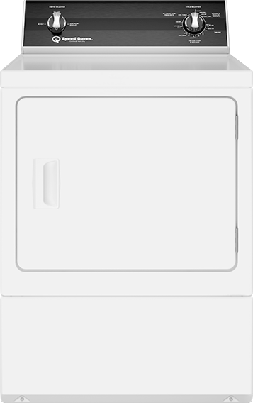 Speed Queen® 7.0 Cu. Ft. White Front Load Electric Dryer-DR3000WE
