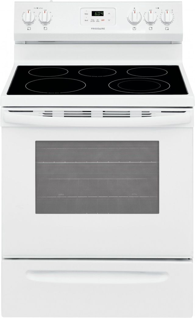 """Frigidaire® 30"""" White Free Standing Electric Range-FCRE3052AW"""