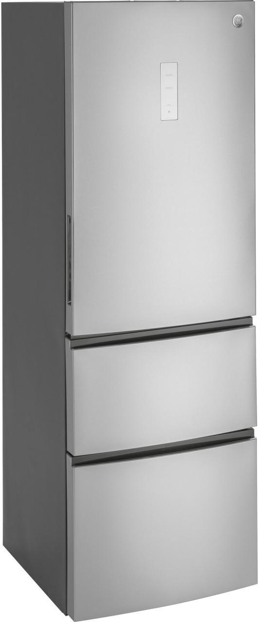 GE® 11.9 Cu. Ft. Bottom-Freezer Refrigerator-Stainless Steel-GLE12HSLSS