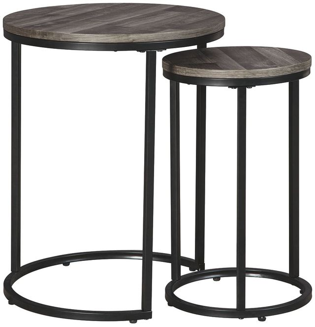 Signature Design by Ashley® Briarsboro Set of 2 Gray Washed Accent Tables-A4000231