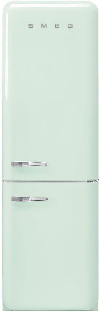 Smeg 50's Retro Style Aesthetic 11.69 Cu. Ft. Pastel Green Bottom Freezer Refrigerator-FAB32URPG3