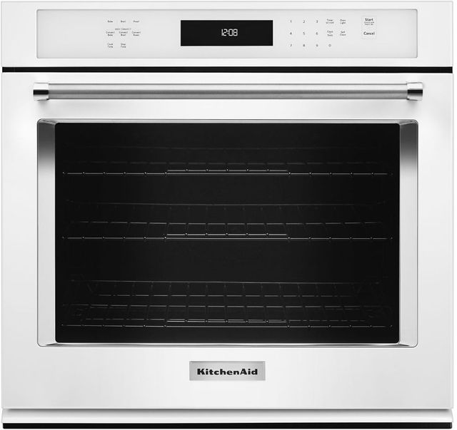 "KitchenAid® 30"" White Electric Single Oven Built In-KOSE500EWH"