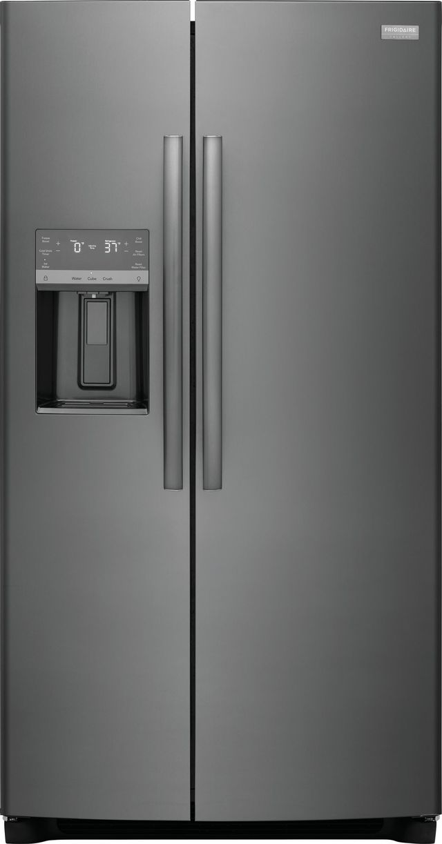 Frigidaire Gallery® 22.2 Cu. Ft. Black Stainless Steel Counter Depth Side-by-Side Refrigerator-GRSC2352AD