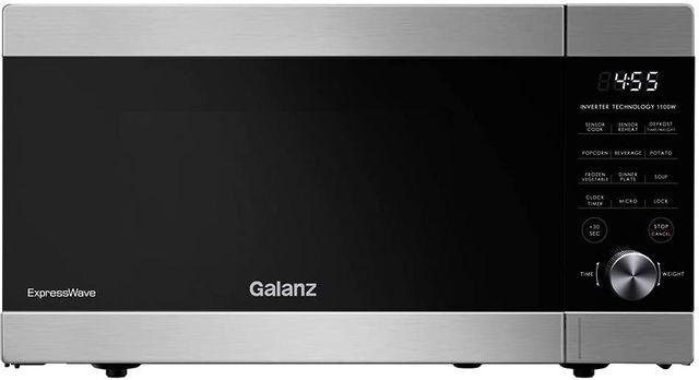 Galanz 1.3 Cu. Ft. Stainless Steel ExpressWave™ Sensor Cooking Microwave Oven-GEWWD13S1SV11