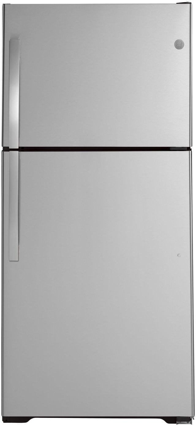 GE® 19.1 Cu. Ft. Stainless Steel Top Freezer Refrigerator-GTS19KSNRSS