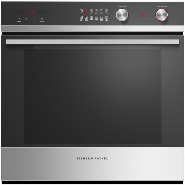 """Fisher & Paykel 24"""" Electric Single Oven Built In-Black Glass with Stainless Steel-OB24SCDEPX1"""