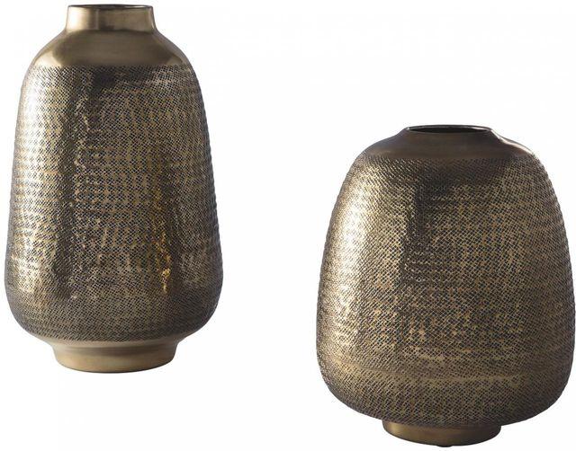 Signature Design by Ashley® Miette Set of 2 Antique Brass Vase-A2000374