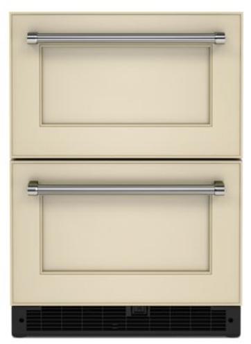 KitchenAid® 4.4 Cu. Ft. Panel-Ready Undercounter Double-Drawer Refrigerator -KUDR204KPA