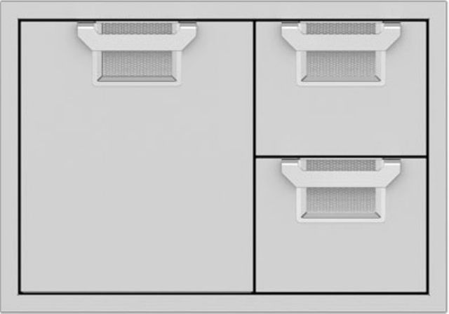 """Aspire By Hestan 30"""" Double Drawer and Storage Door Combination-Stainless Steel-AESDR30-SS"""