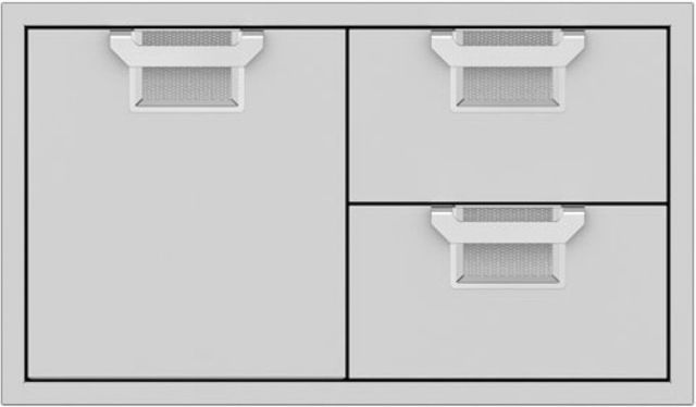 """Aspire By Hestan 36"""" Double Drawer and Storage Door Combination-Stainless Steel-AESDR36-SS"""