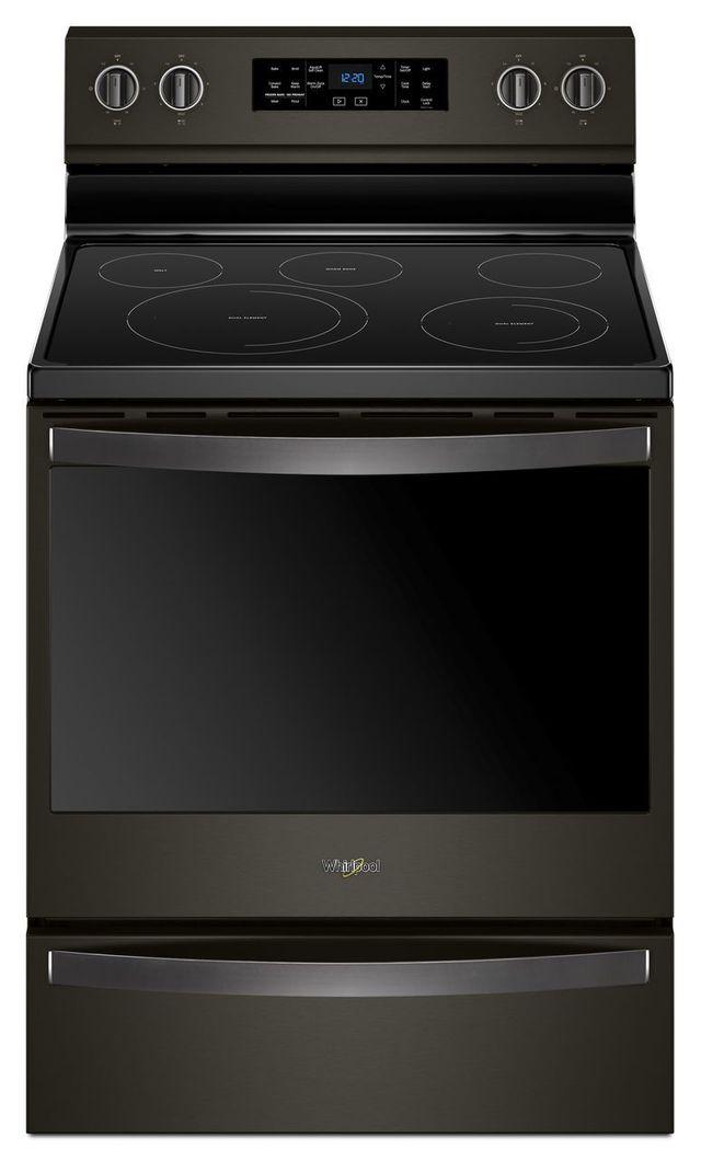 """Whirlpool® 30"""" Freestanding Electric Range-Fingerprint Resistant Black Stainless Steel-WFE775H0HV"""