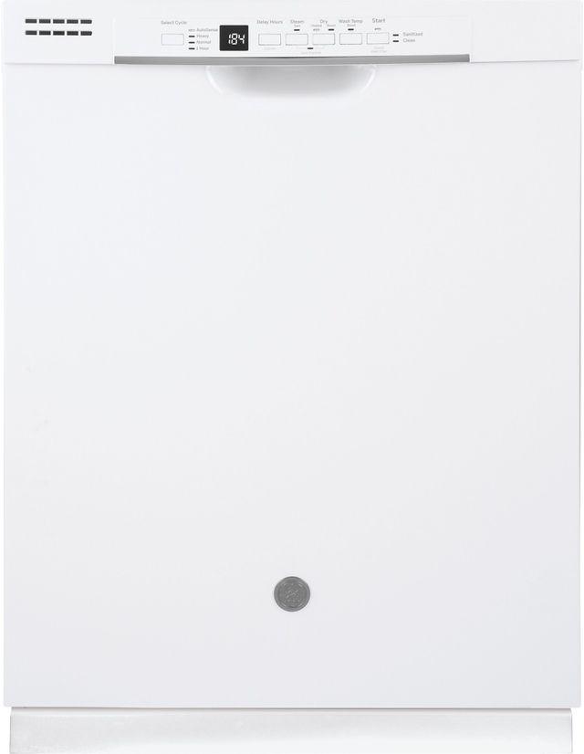 "GE® 24"" Built In Dishwasher-White-GDF530PGMWW"