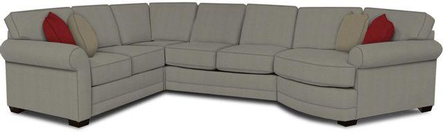 England Furniture Co. Brantley 4 Piece Culpepper Cement/Alvarado Mineral/Aramis Fret Sectional-5630-28-22-43-95+8612+7909+8601