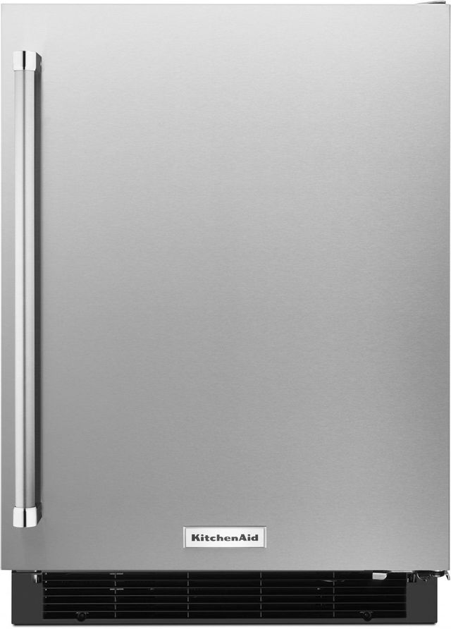 KitchenAid® 4.9 Cu. Ft. Stainless Steel Under The Counter Refrigerator-KURR104ESB