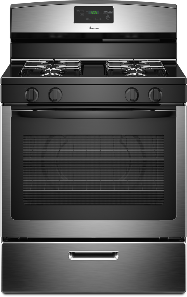 """Amana® 30"""" Stainless Steel Free Standing Gas Range-AGR5330BAS"""