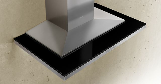 """Zephyr ARC Layers 36"""" Wall Hood-Black Glass with Stainless Steel-ALA-M90BBX"""