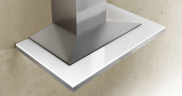 """Zephyr ARC Layers 36"""" Wall Hood-White Glass with Stainless Steel-ALA-M90BWX"""
