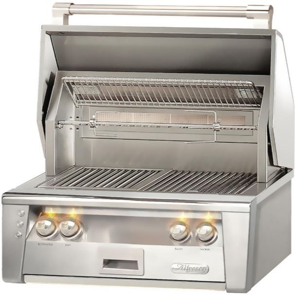 """Alfresco™ ALXE Series 30"""" Built-In Grill-Stainless Steel-ALXE-30-NG"""