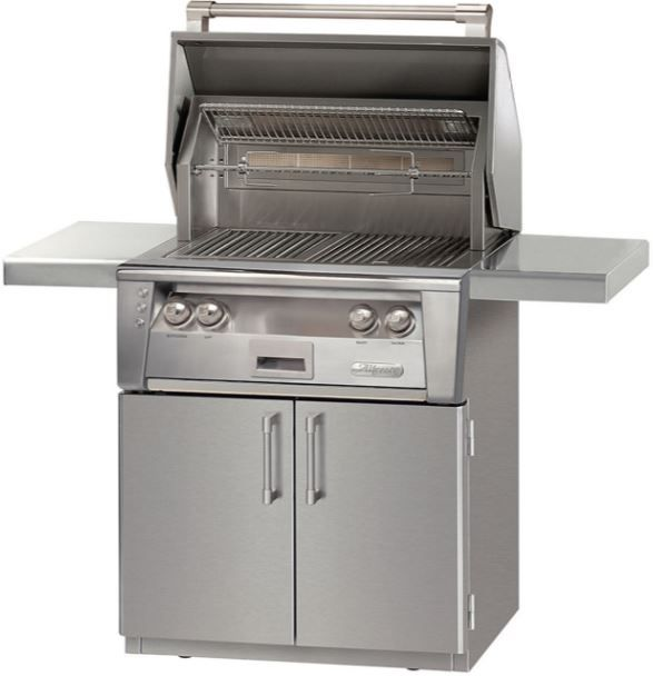 """Alfresco™ ALXE Series 30"""" Freestanding Grill-Stainless Steel-ALXE-30C-NG"""