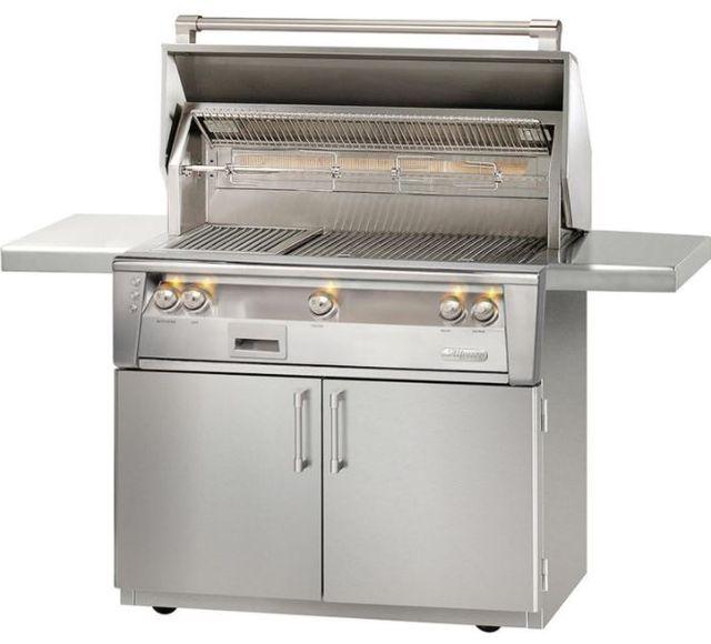 """Alfresco™ ALXE Series 42"""" Sear Zone Freestanding Grill-Stainless Steel-ALXE-42SZC-LP"""