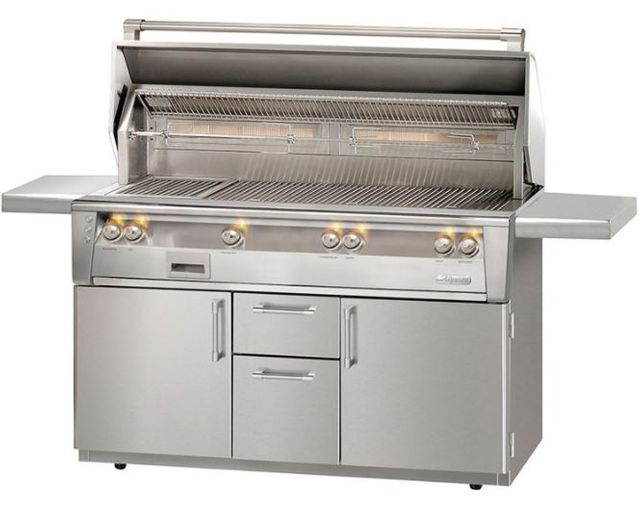 """Alfresco™ ALXE Series 56"""" Freestanding Grill-Stainless Steel-ALXE-56BFGC-NG"""