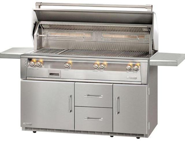 """Alfresco™ ALXE Series 56"""" Freestanding Grill-Stainless Steel-ALXE-56BFGR-LP"""