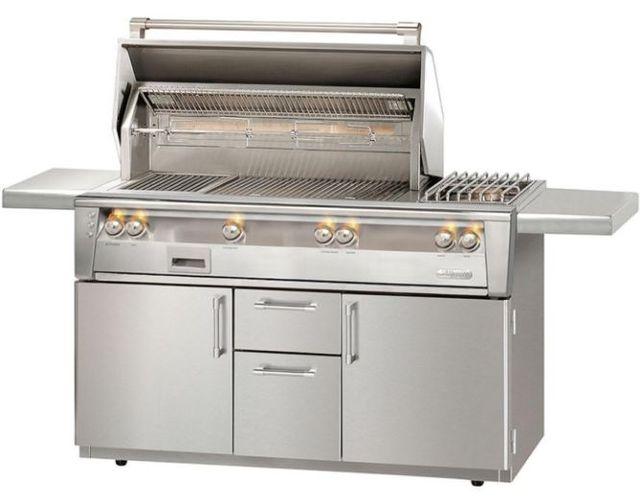 """Alfresco™ ALXE Series 56"""" Sear Zone Freestanding Grill-Stainless Steel-ALXE-56SZC-LP"""
