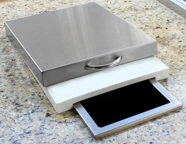 "Alfresco™ ALXE Series 10"" Prep Plus Waste Chute-Stainless Steel-APWC"