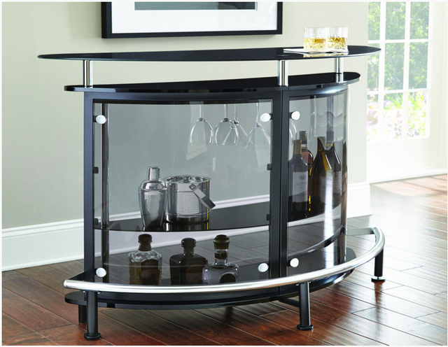 Steve Silver Co. Ariana Bar Table/Server-Black-AR500SB