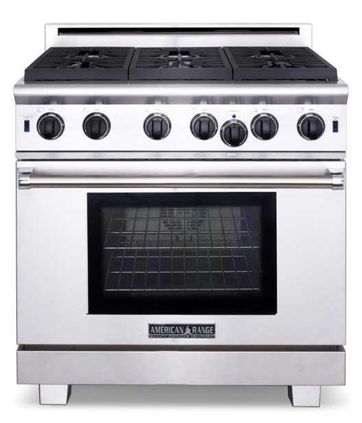 "American Range Cuisine Series 36"" Residential Free Standing Gas Range-ARR-636"