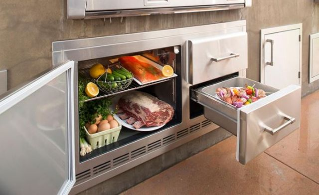 Alfresco™ ALXE Series Under Grill Refrigerator-Stainless Steel-ARXE-42