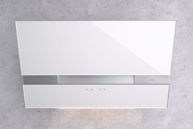 """Zephyr ARC Wave 36"""" Wall Hood-White Glass with Stainless Steel-AWA-M90AWX"""