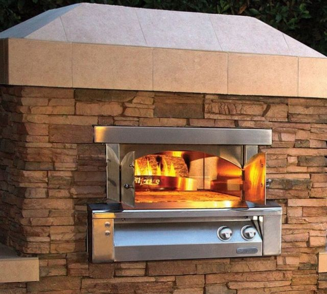 """Alfresco™ 30"""" Pizza Oven For Built-In Installations-Stainless Steel-AXE-PZA-BI-NG"""