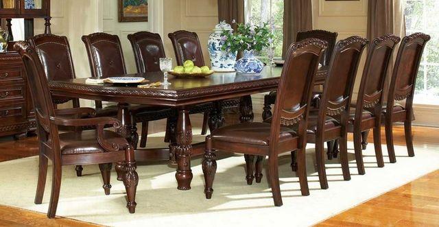 Steve Silver Co. Antoinette Double Pedestal Table-AY200T